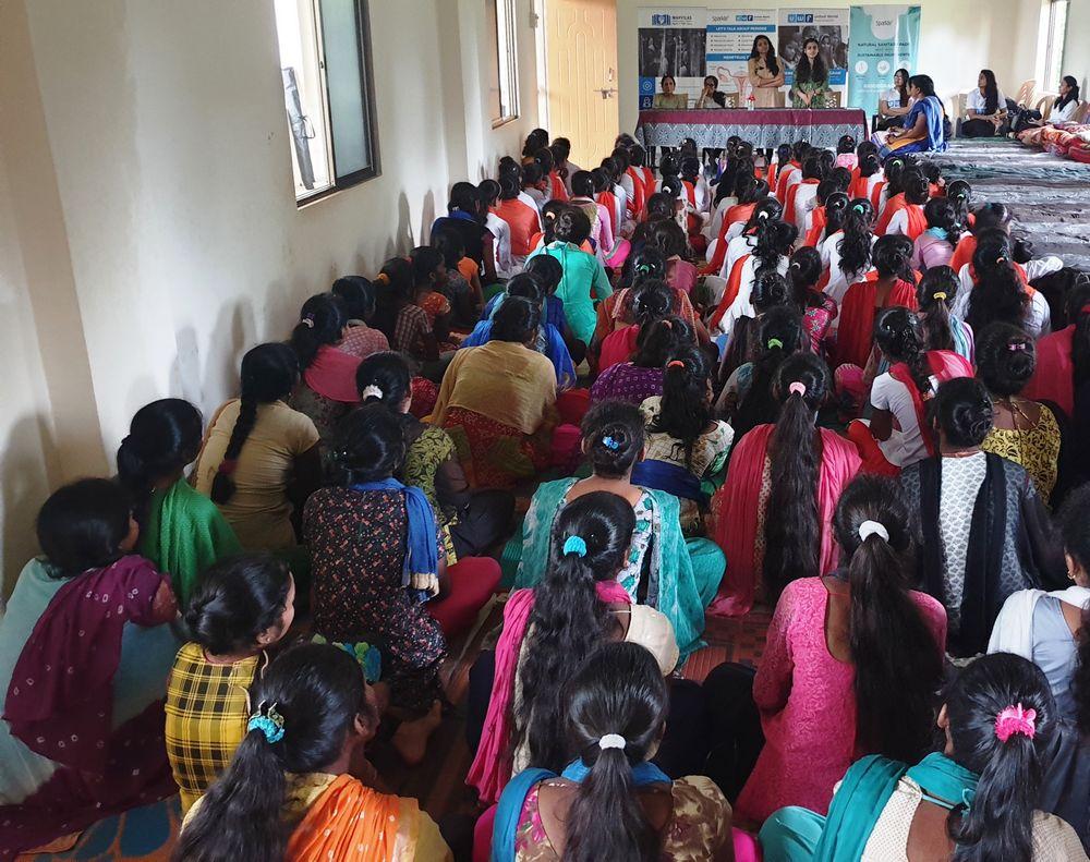Jagruti Madhyamik Kanya Chhatralaya - Menstrual health awareness and sanitary pads distribution program - United World Foundation