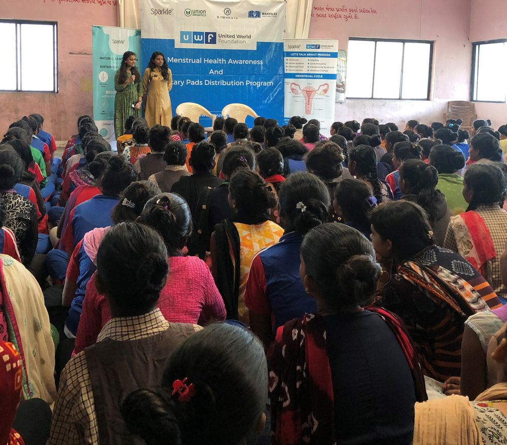 Shantaba High School Menstrual health awareness and sanitary pads distribution program - United World Foundation